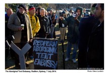 17_Aboriginal Tent Embassy blockades The Block_© Glenn Lockitch