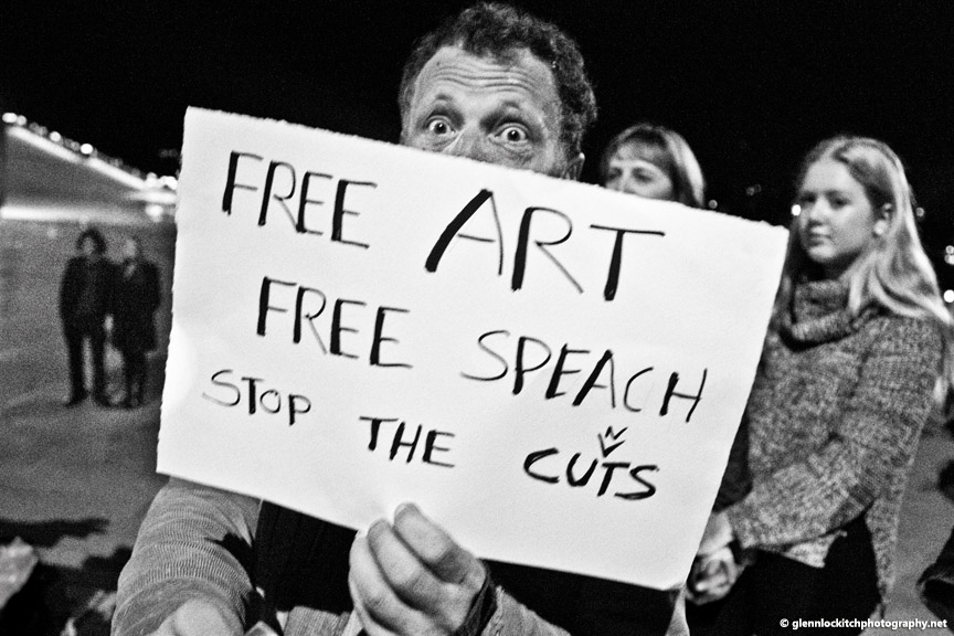 Free the Arts Protest. Sydney Opera House. © Glenn Lockitch 2015